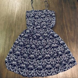 Dresses & Skirts - Navy Boho Paisley Dress Size Medium